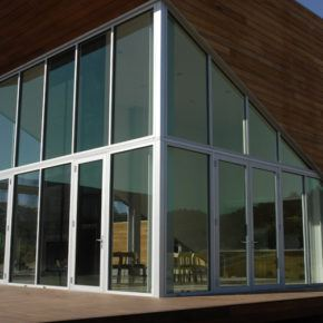 Commercial storefront glass doors and windows