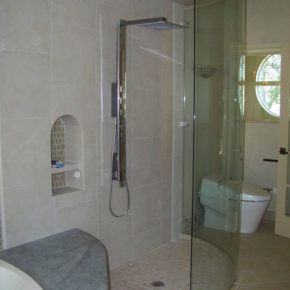 New glass shower doors