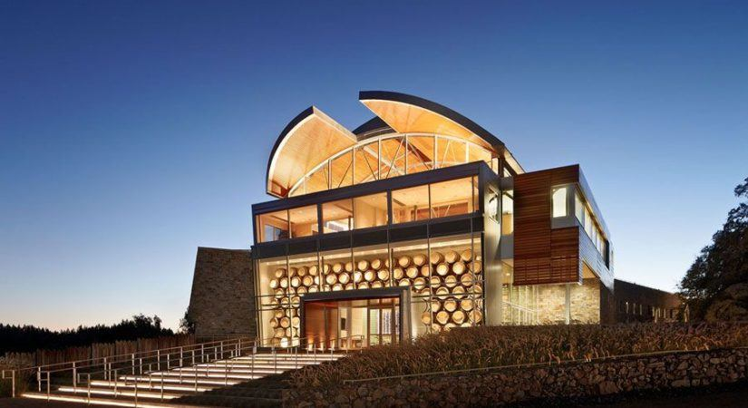 New commercial glass at William Selyem winery