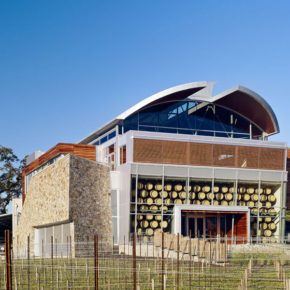 Commercial glass installation at Williams Selyem winery