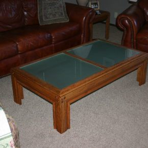 Custom cut glass table top