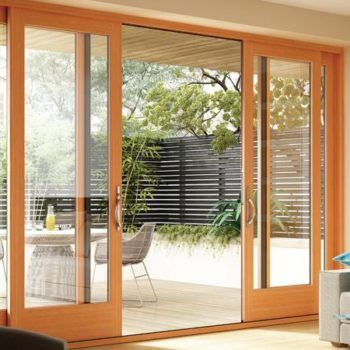 side by side residential sliding glass doors