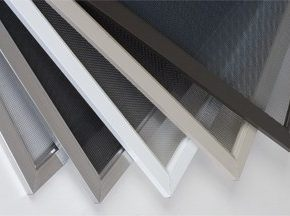 stack of various window screens