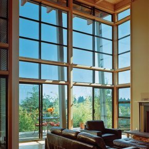 large residential window installation