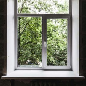 Residential aluminum window installation