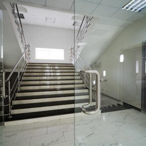 Full glass commercial door