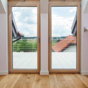 side by side residential glass doors