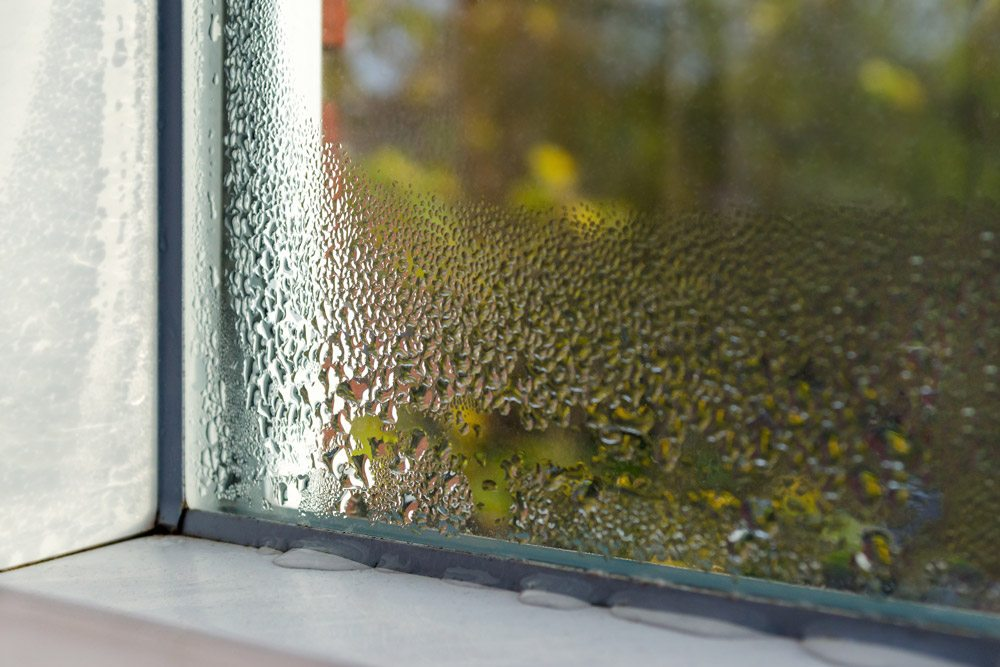 Close up of leaky window