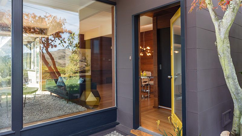 glass panels and door helping make a home feel bigger